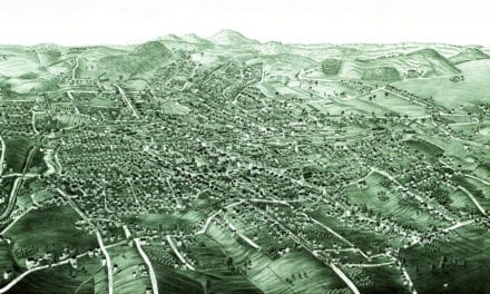 Beautiful old map of Danbury, Connecticut from 1884