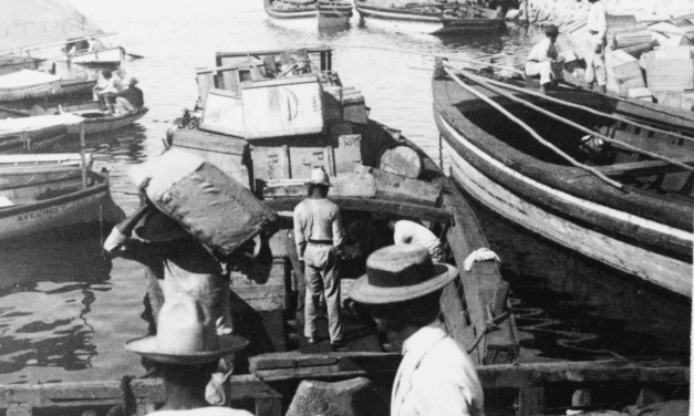 Unloading goods at the Port of Ponce, Puerto Rico in 1900