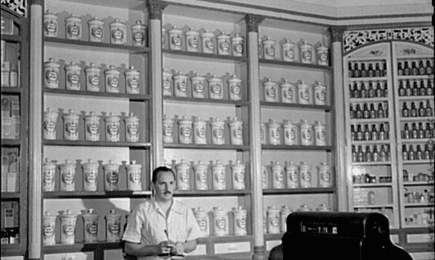 An apothecary store in Lares, Puerto Rico. January, 1942