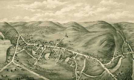 Beautiful old map of South Coventry, CT from 1878
