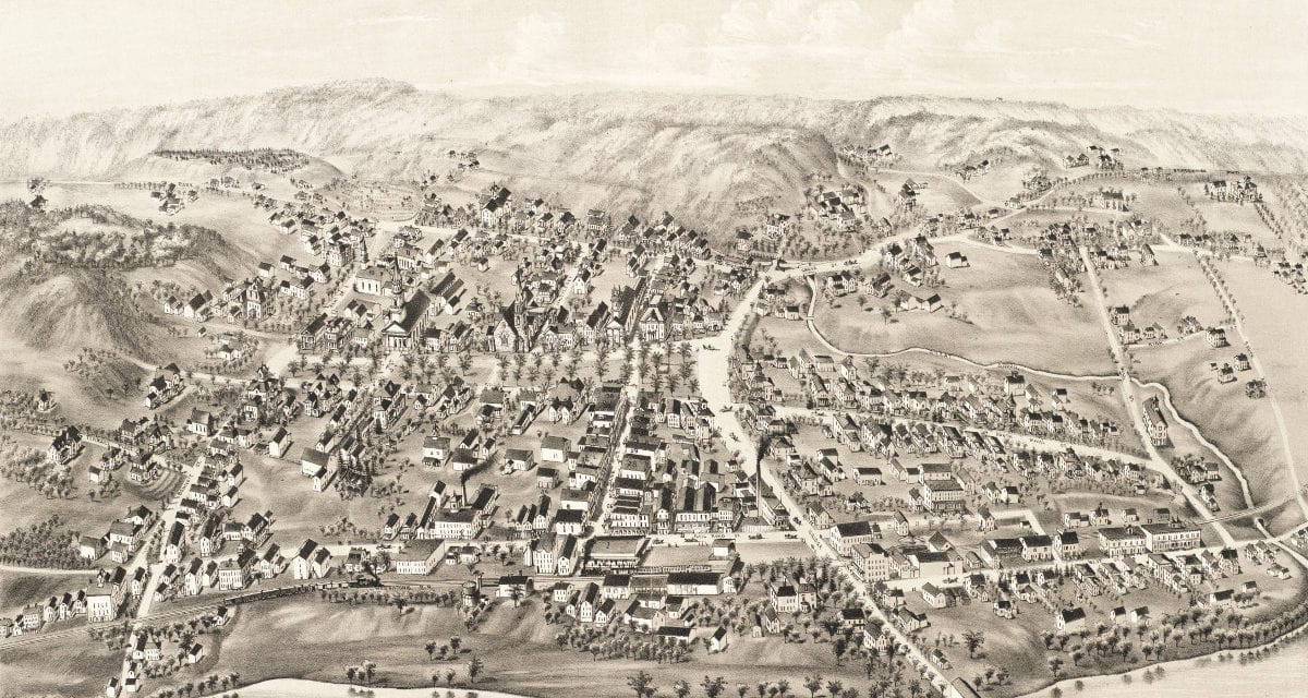 Amazing vintage map of New Milford, CT from 1882