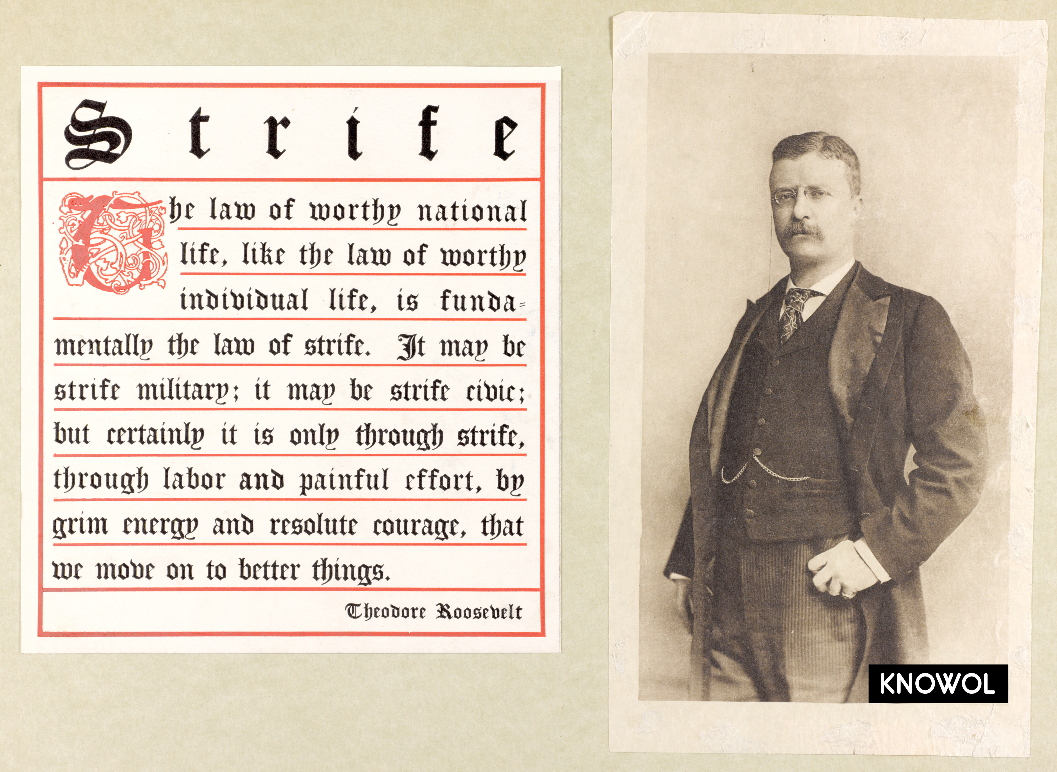 Quotes On Fdrs Death: Theodore Roosevelt's Motivational Quote On Strife And