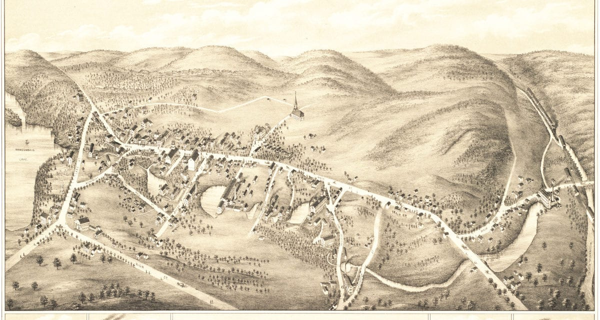Amazing vintage map of South Coventry, CT from 1878