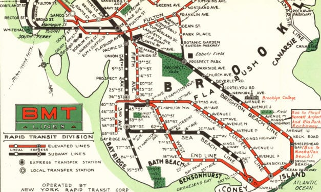 Map of NYC subways created for 1939 World's Fair