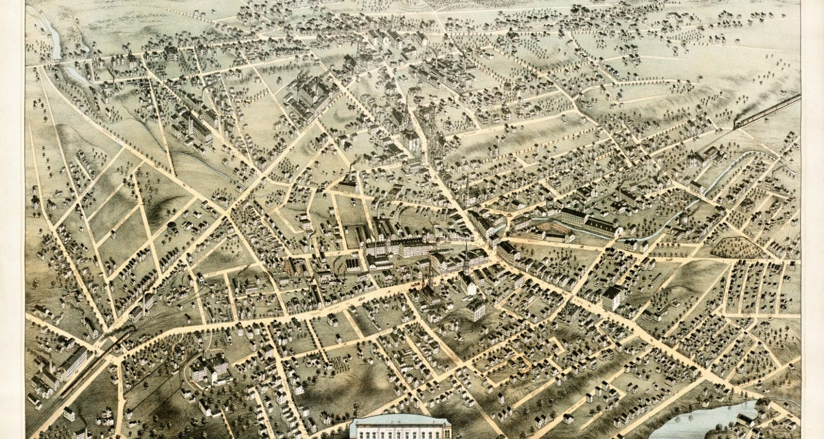 Amazing old map of Meriden, Connecticut from 1875