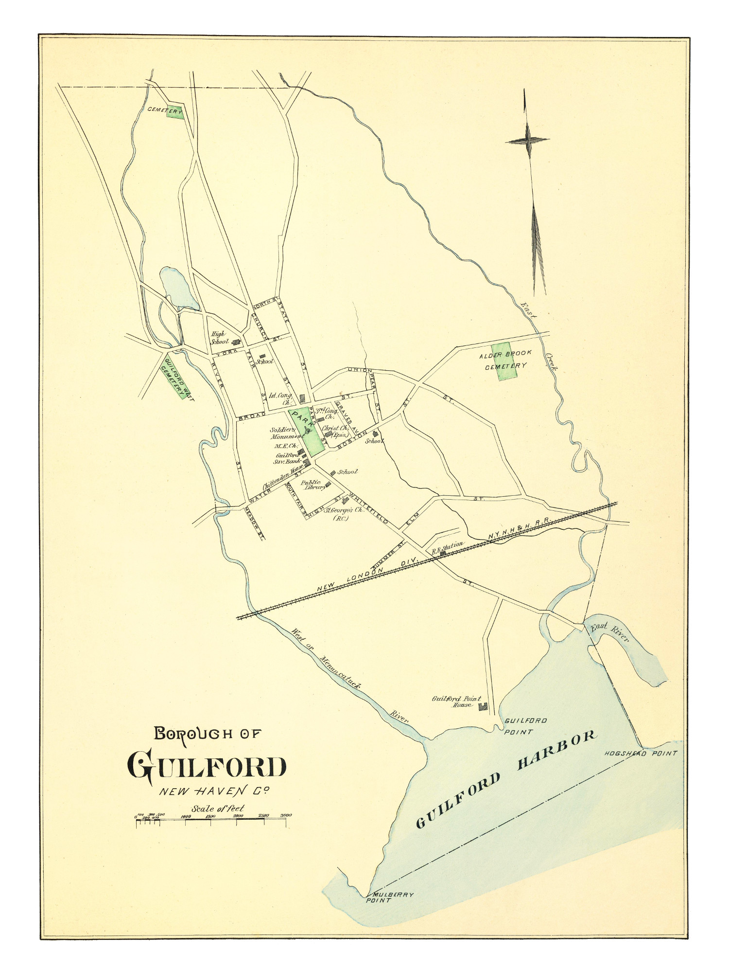 Guilford Connecticut Map From Old Vintage Map Of Guilford - Old map reproductions