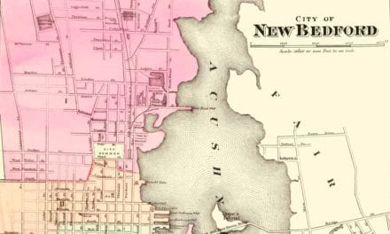 Historical map of New Bedford, Massachusetts from 1871