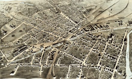 Beautiful bird's eye view of Schenectady, NY in 1875