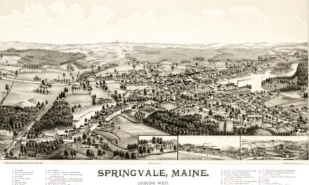 Map of Springvale, Maine, Looking West, 1888
