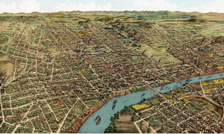 Beautifully restored map of Nashville, Tennessee from 1888