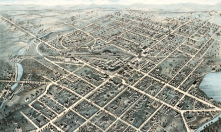 Beautifully restored old map of Pittsfield, MA from 1876