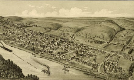 Beautifully restored map of Roscoe, PA from 1902