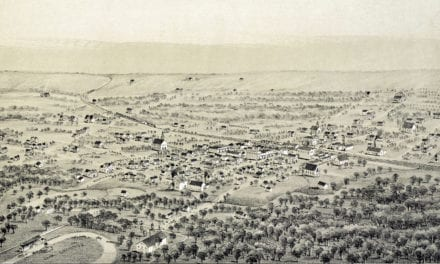 Beautifully restored map of Alvord, Texas from 1890
