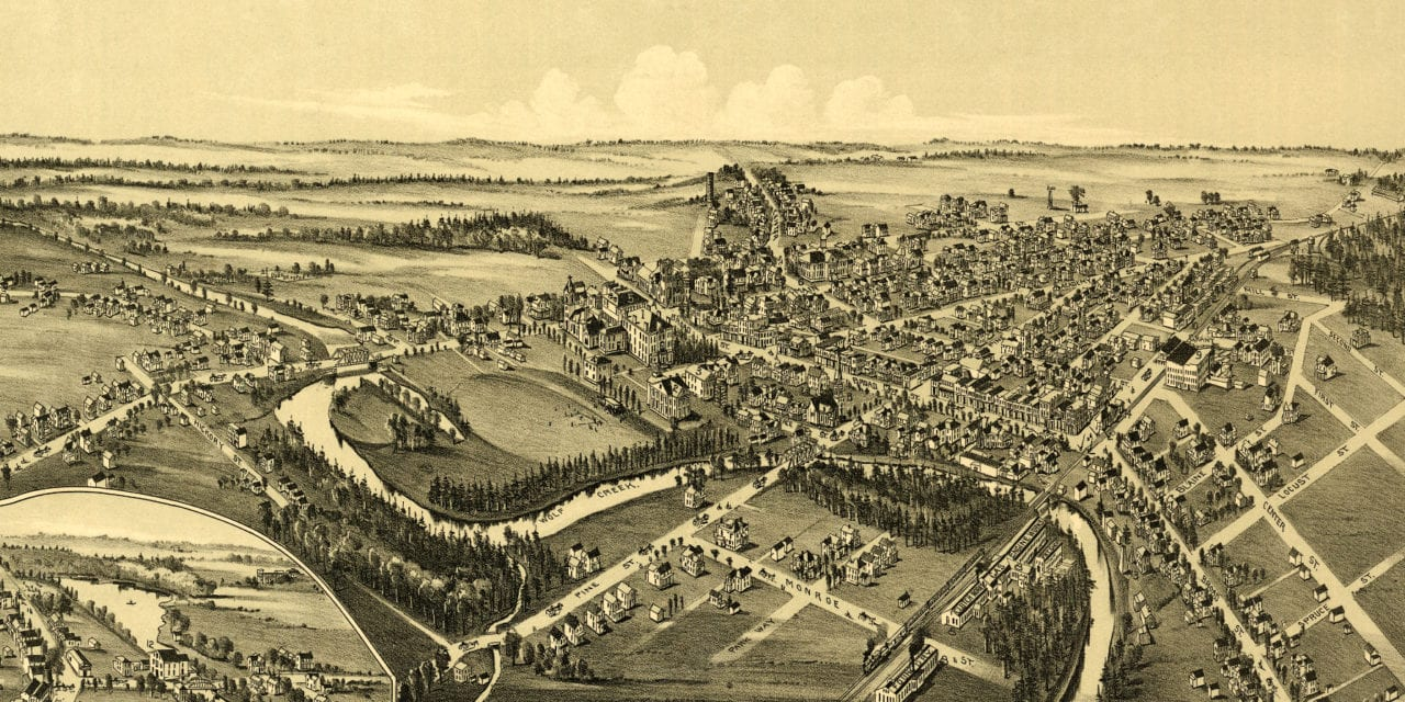 Historic map of Grove City, Pennsylvania from 1901
