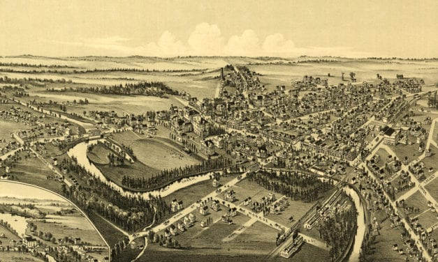Newly restored map of Grove City, Pennsylvania from 1901
