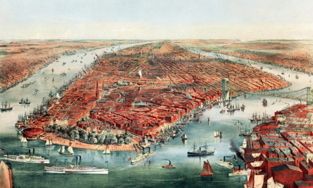 Beautifully detailed map of New York City from 1870
