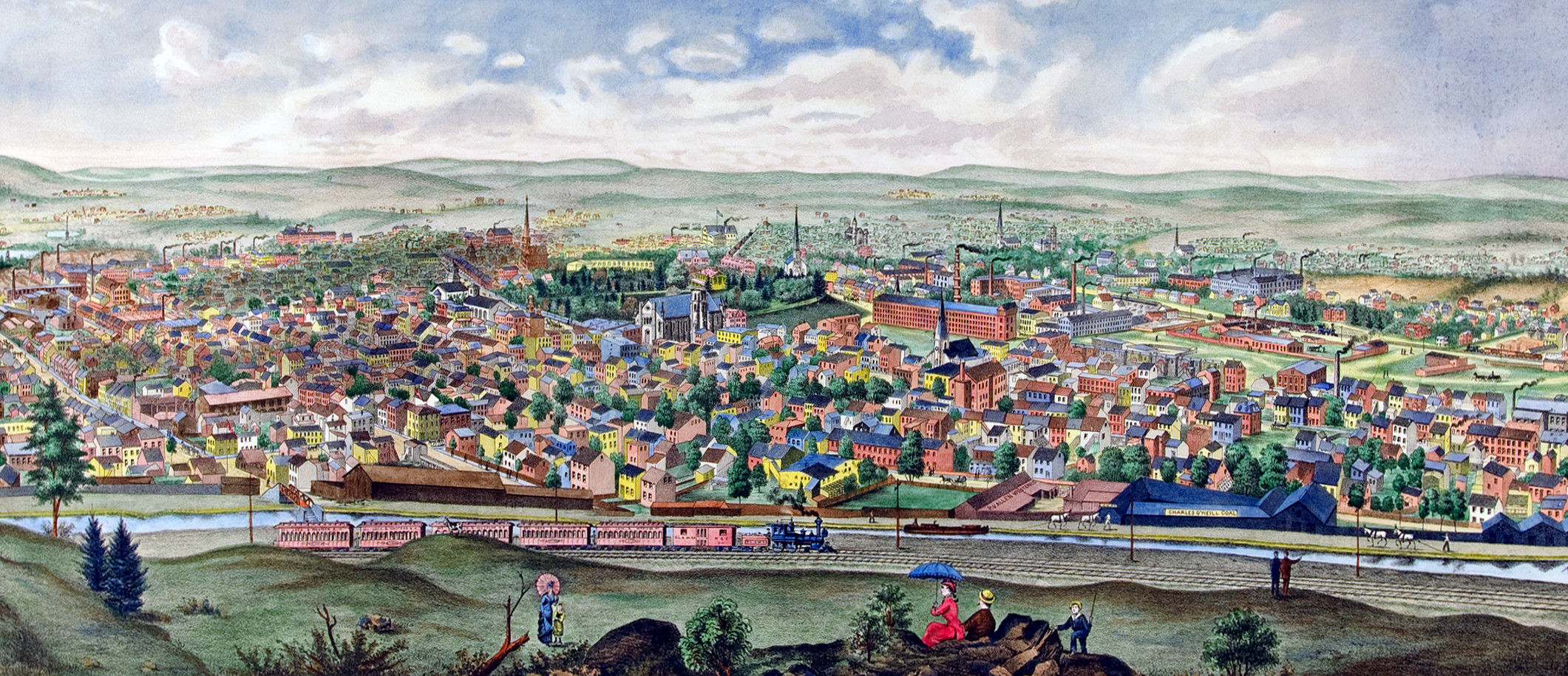 Paterson New Jersey In 1880 Restored Image Shows