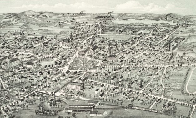 Beautifully restored map of Foxborough, MA from 1888