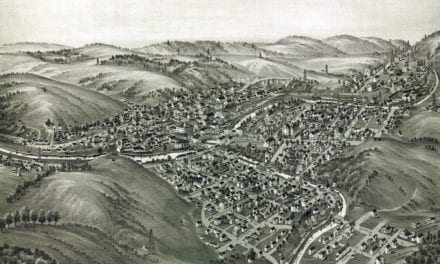 Beautifully restored map of Mannington, WV from 1897