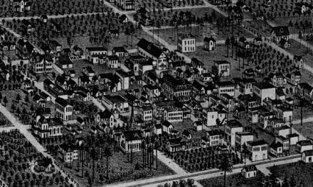 Beautifully restored map of Orlando, Florida from 1884