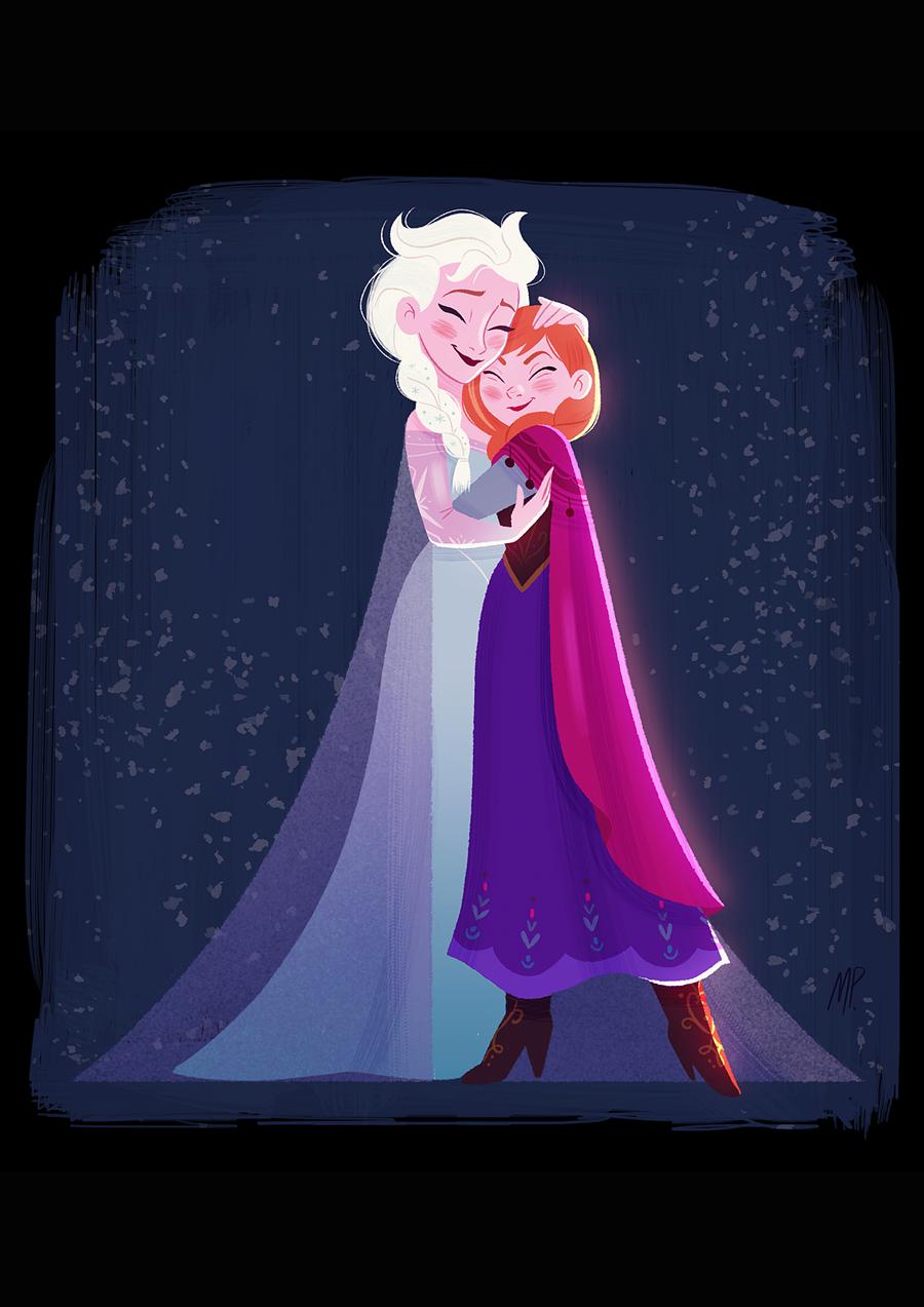 Elsa and Anna Drawing
