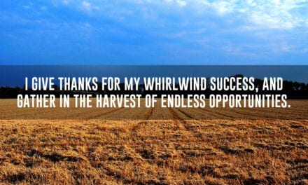 Give thanks for your whirlwind success
