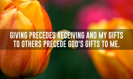 Giving precedes receiving
