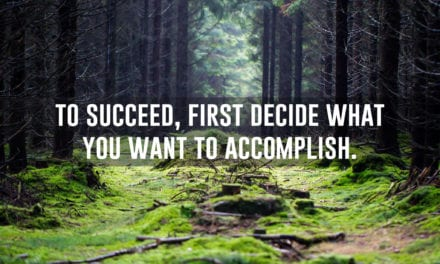 To succeed, first decide what you want