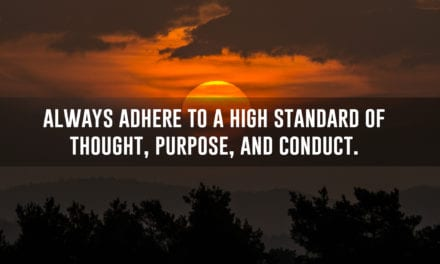 15 standards of conduct to live by
