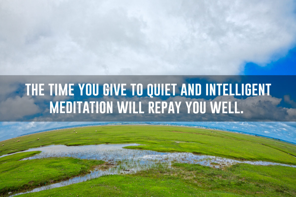 quiet and intelligent meditation