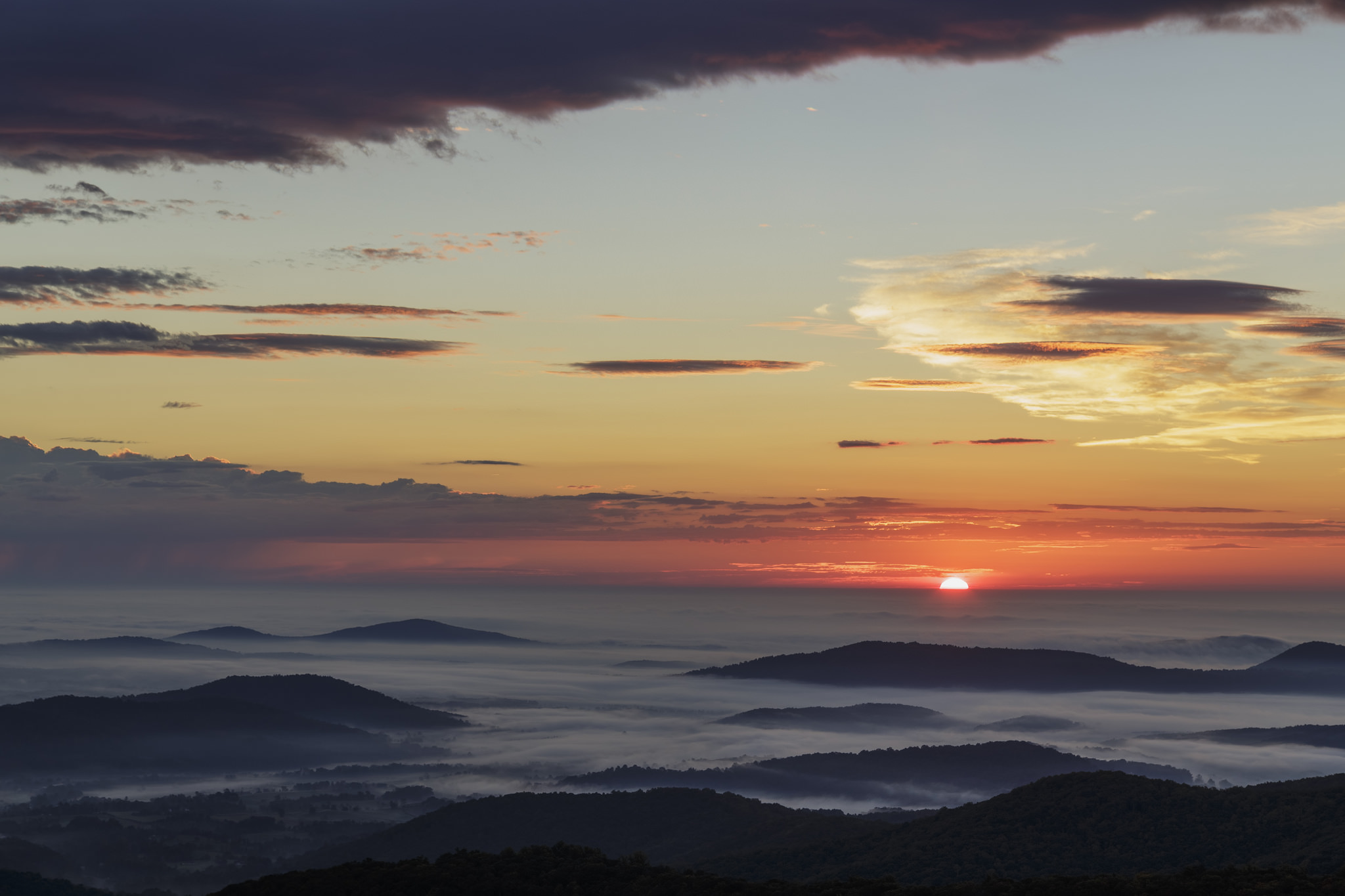 Shenandoah National Park Sunrise in Virginia