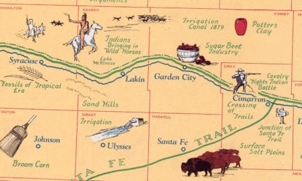 Map of Historic Kansas, a one page history dedicated to the Old Timers, 1930