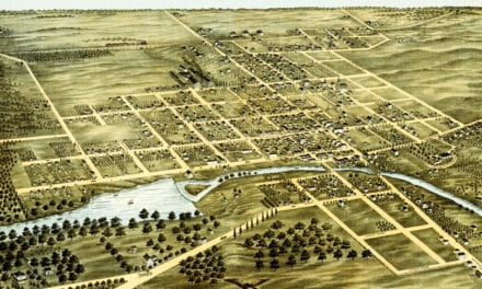 Beautifully restored map of Naperville, IL from 1869