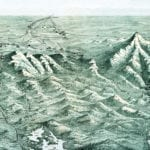Map of New Hampshire's White Mountains from 1890