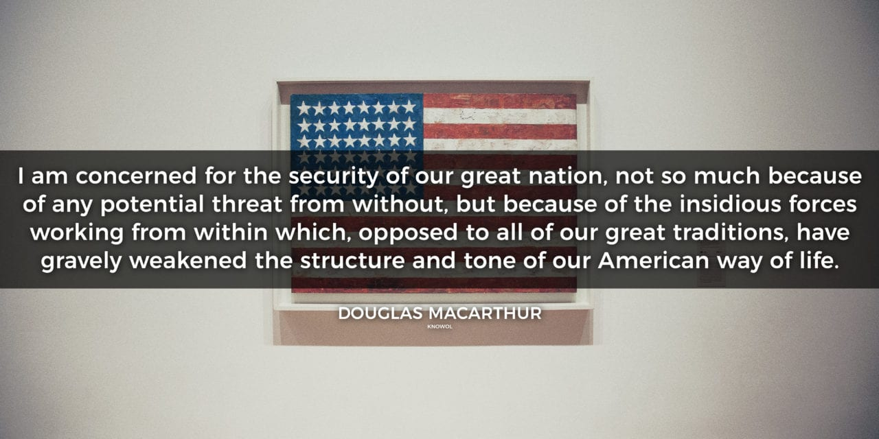 Douglas MacArthur, WWII Five-Star General, on the Future of the USA