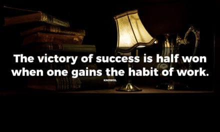 Habitual work leads to success
