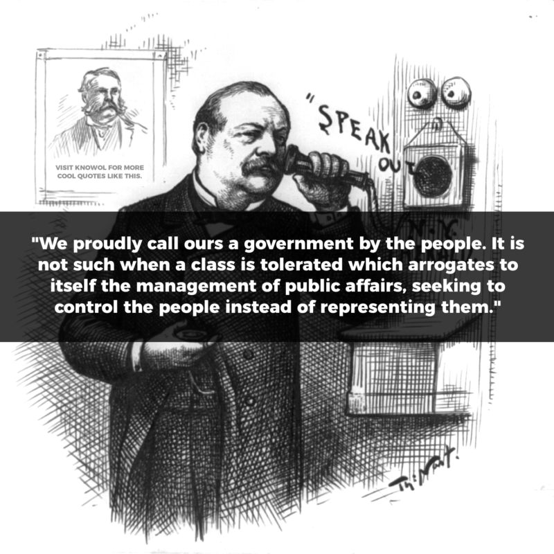 24 Grover Cleveland Quote Knowol