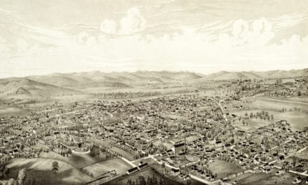 Beautiful old map of Amherst, Massachusetts in 1886