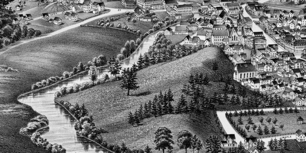 Beautifully detailed map of Athol, Massachusetts in 1887