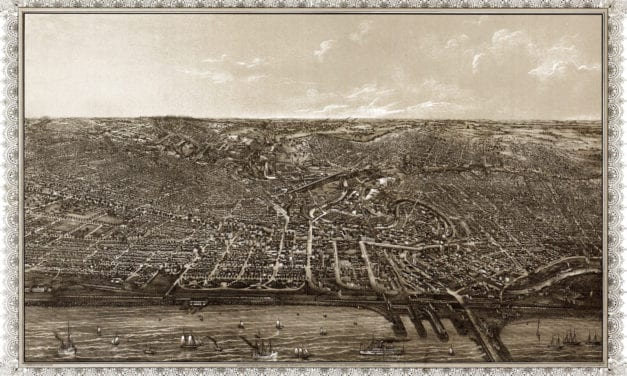 Beautifully detailed map of Cleveland, Ohio in 1887
