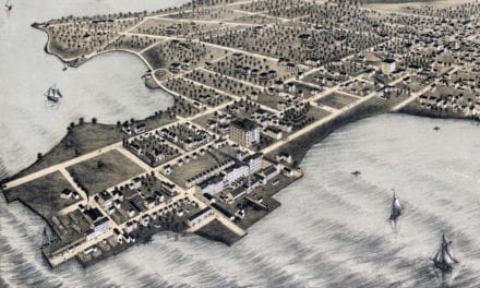 Beautifully restored map of College Point, Queens from 1876
