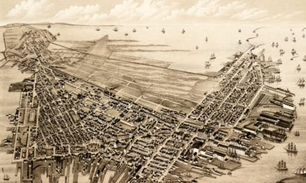 Beautifully restored map of East Boston, Massachusetts from 1879