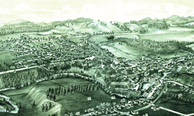 Beautiful old map of Fair Haven, Vermont from 1886