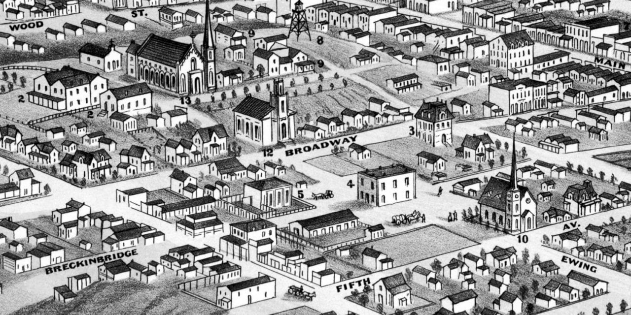 Beautifully detailed map of Helena, Montana from 1875