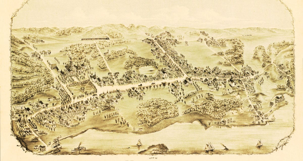 Beautiful vintage map of Madison, CT from 1881