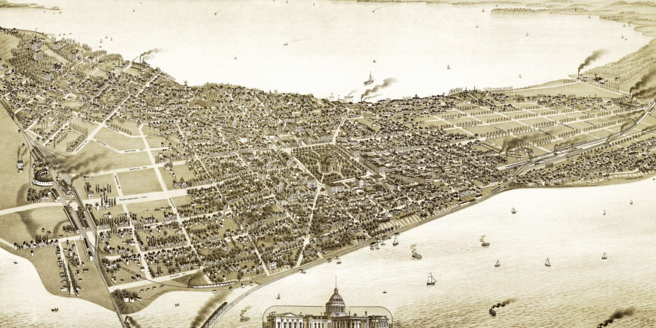 Amazing vintage map of Madison, Wisconsin in 1885