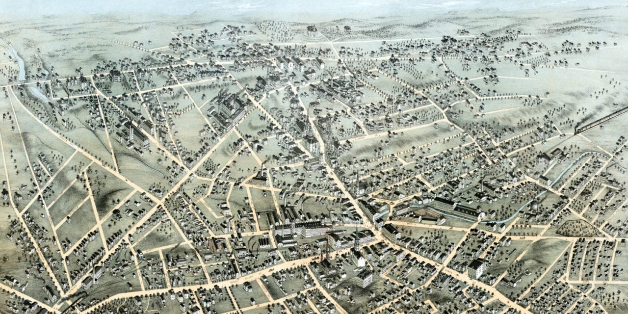 Historic Old Map Shows A Bird S Eye View Of Meriden