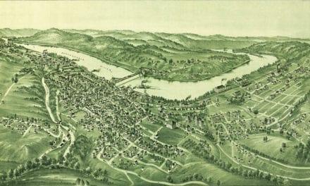Historic old map of Morgantown, West Virginia in 1897