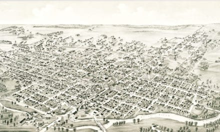 Beautifully detailed map of Muncie, Indiana from 1884