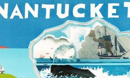 Wonderful vintage travel poster of Nantucket, Massachusetts